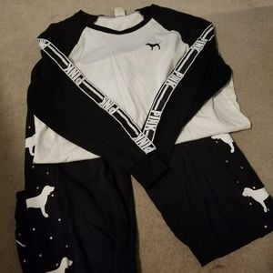VS Pink Long Sleeve and Sweatpants Set